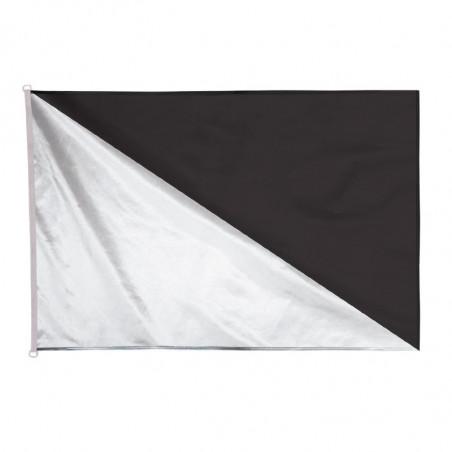 Pavillon véliplanchiste réglementaire noir et blanc