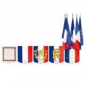 Écusson porte-drapeau mairie