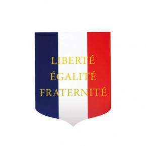 Écusson porte-drapeau mairie Liberté Egalité Fraternité
