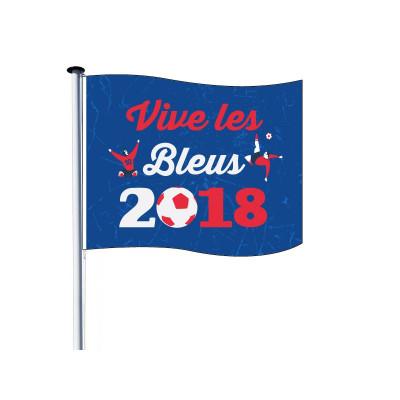 Drapeau pour Mât - Coupe du Monde 2018 - Visuel A