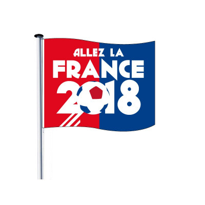Drapeau pour Mât - Coupe du Monde 2018 - Visuel B