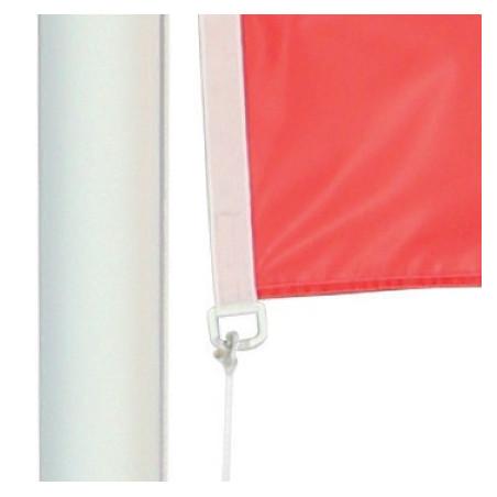 Drapeau pour Mât Classique (forme horizontale) - vue oeillet bas -MACAP