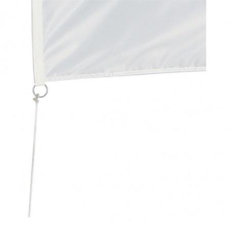 Drapeau pour Mât Classique (forme verticale) - vue oeillet bas -MACAP