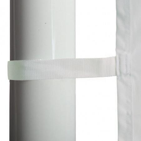 Drapeau pour Mât Potence à Glissière (forme verticale) - vue sangle mât -MACAP