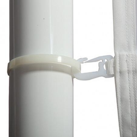 Drapeau pour Mât Potence à Glissière (forme verticale) - vue mousqueton mât