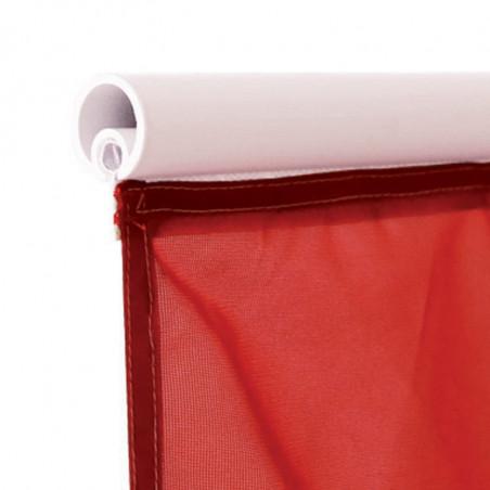 Drapeau pour Mât Potence à Glissière (forme verticale) - vue fixation haute jonc  -