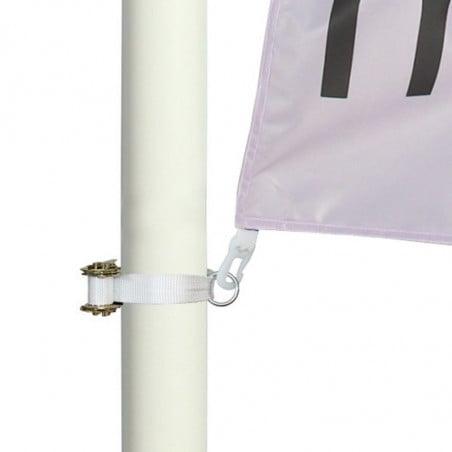 Kakémono pour lampadaire avec potence à ressort en montage simple - vue fixation basse -MACAP