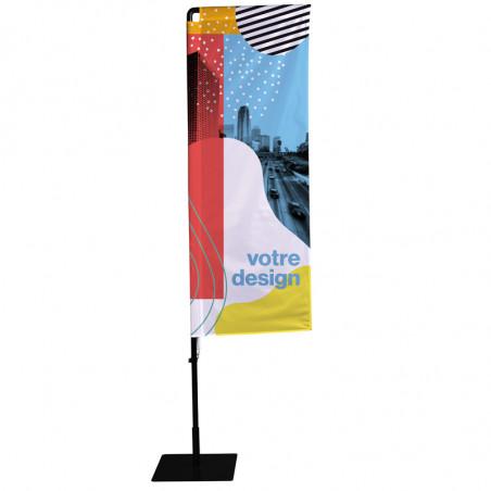 Beach flag - Oriflamme POTENCE (KIT complet) - Livraison express - 48 h MACAP