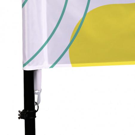 Beach flag - Oriflamme POTENCE (KIT complet) - vue fixation basse -Livraison express - 48 h MACAP