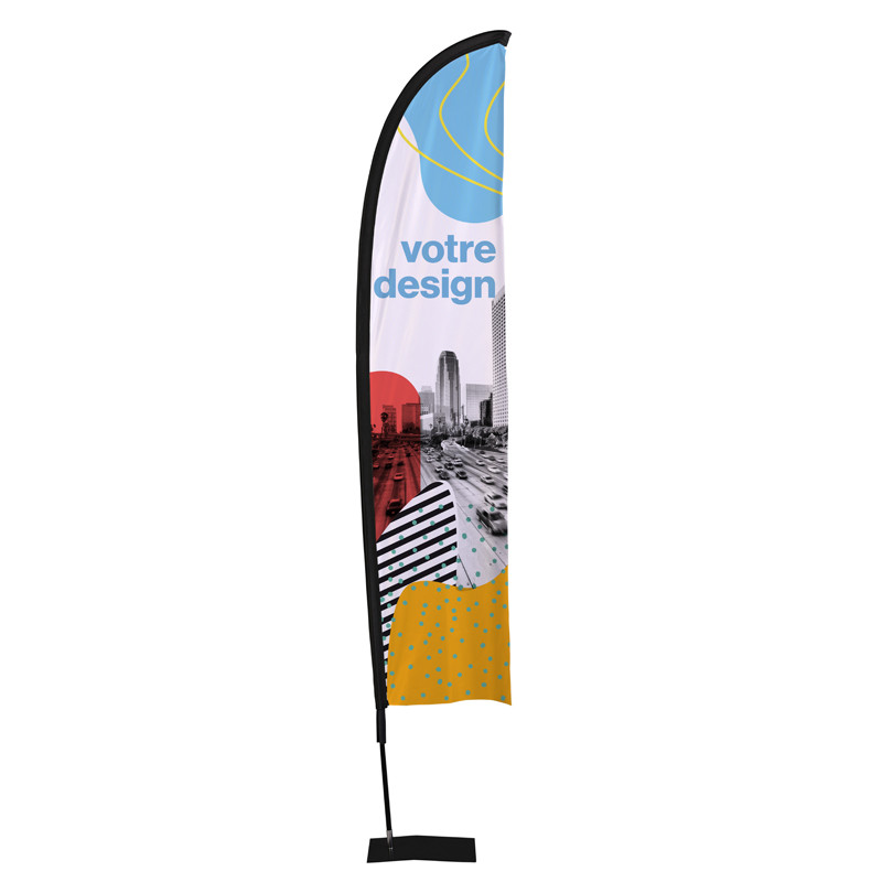 Beach flag - Oriflamme LIGHT (KIT complet) - Livraison express - 48 h MACAP