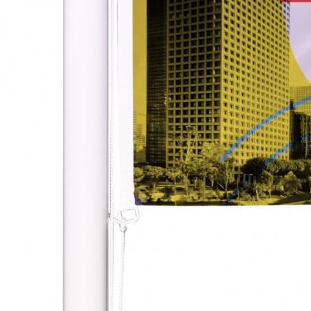 Drapeau pour Mât Classique (forme horizontale) - vue oeillet bas -Livraison express - 48 h MACAP