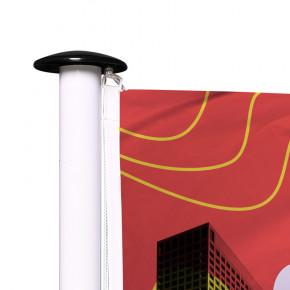 Drapeau pour Mât Classique (forme horizontale) - vue oeillet haut -Livraison express - 48 h MACAP
