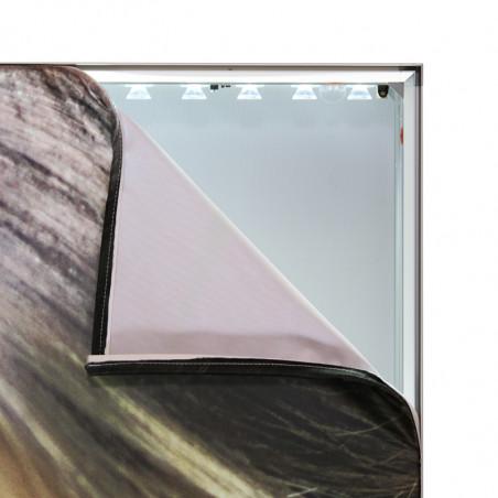 Cadre toile tendue rétroéclairé autoportant (utilisation intérieure) - vue montage - MACAP