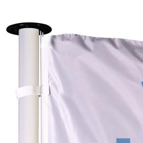 Drapeau pour Mât Classique (forme verticale) - vue fixation haute - 48 h MACAP