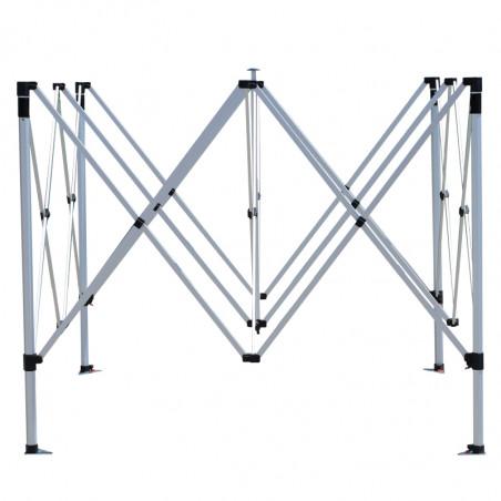 Structure dépliée en partie haute de la tente   personnalisable -MACAP