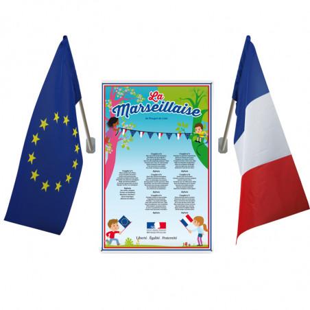 Loi Blanquer - Affiche PVC + 2 drapeaux - Ecole Primaire