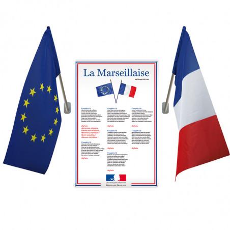 KIT Loi Blanquer - Affiche PVC + 2 drapeaux - Ecole Secondaire