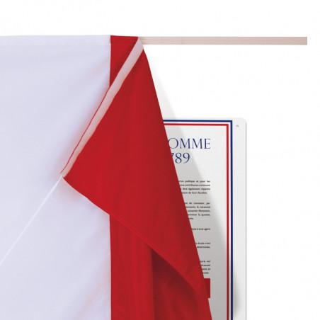 tissu tricolore pour plaque d'inauguration avec lien d'attrape MACAP
