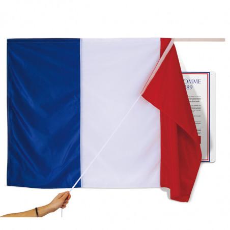 Tissu d'inauguration pour plaque aux couleurs du drapeau français MACAP