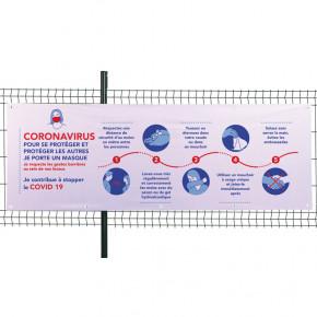 Banderole textile intissé - COVID 19 (fixation...