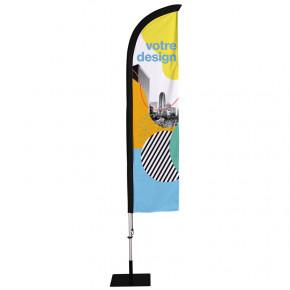 Beach flag - Oriflamme CLASSIQUE (KIT complet fourreau dans la maille) - 48 h MACAP