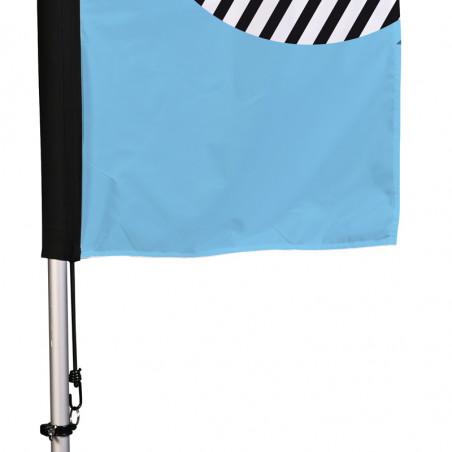 Beach flag - Oriflamme CLASSIQUE 48h (pied en croix) - vue fixation basse - MACAP