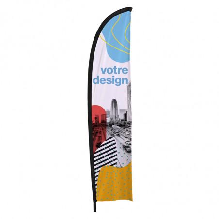Beach flag - Oriflamme LIGHT (voile seule) - Fabrication express en 48 H - MACAP