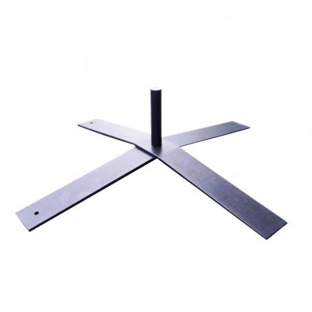 Pied en croix en acier (17 kg) pour mât de Beachflag Potence - 48 H MACAP