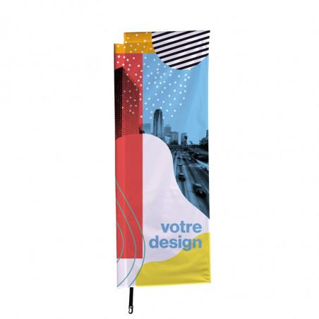 Beach flag - Oriflamme POTENCE (voile seule à imprimer) - Express 48 H - MACAP