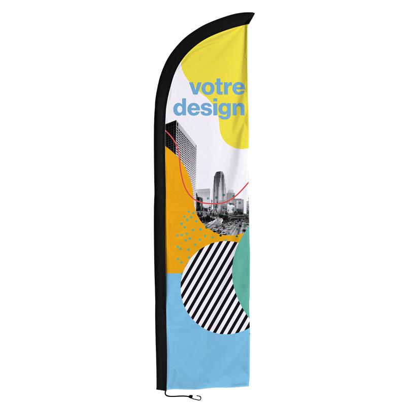 Beach flag - Oriflamme CLASSIQUE (voile seule) - Livraison express - 48 h MACAP
