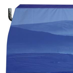 Habillage chaussette de barrière en béton en tissu personnalisable