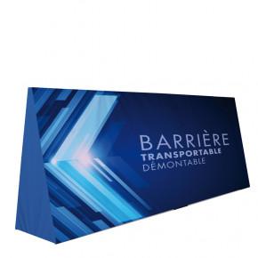 Barrière transportable démontable