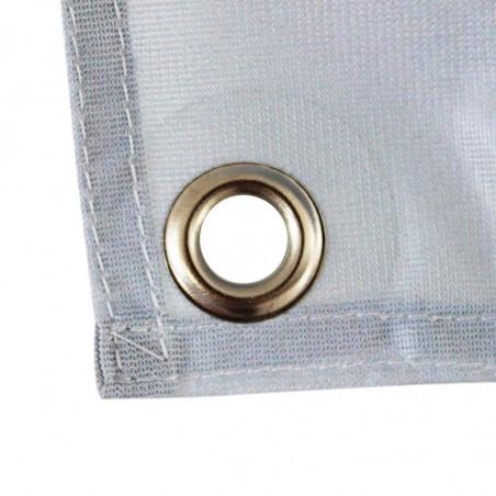 Banderole en Textile Polydéco (fixation oeillets) - vue oeillet -MACAP