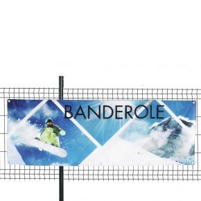 Banderole personnalisée en Textile Polydéco (fixation oeillets) - MACAP