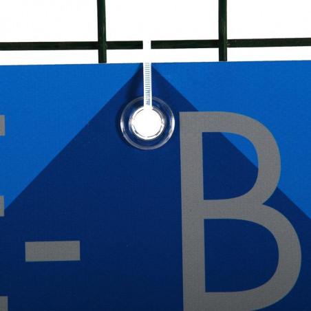 Banderole PVC (fixation oeillets) - vue fixation oeillet - MACAP