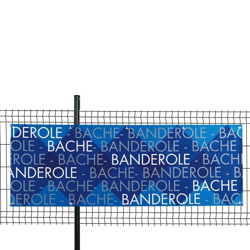 Banderole PVC personnalisée (fixation oeillets) - MACAP