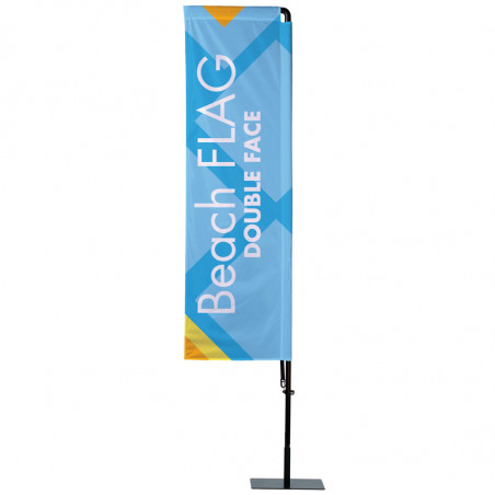Beach flag - Oriflamme POTENCE Double Face (KIT complet) - MACAP