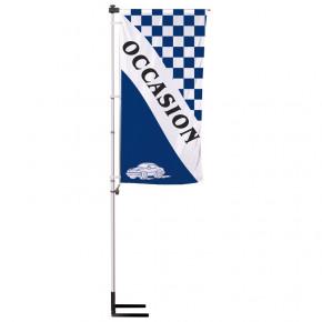 """Kit Mât télescopique Autocal """"Occasion"""" (modèle 1 - Bleu) Mât + voile + pied autocal"""