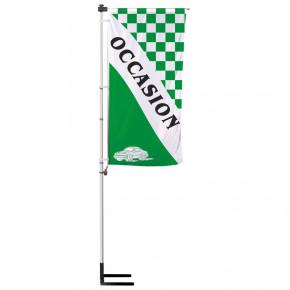 """Kit Mât télescopique Autocal """"Occasion"""" (modèle 1 - Vert) Mât + voile + pied autocal"""