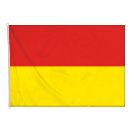 drapeau zone de surveillance de baignade bicolore rouge et jaune pour mât (nouvelle réglementation)