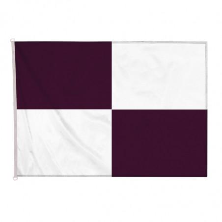 drapeau nautique à damier noir et blanc avec oeillets (application volontaire)