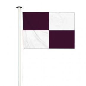 drapeau nautique à damier noir et blanc (application volontaire)