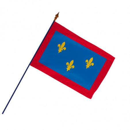 Drapeau Province Anjou avec hampe et ourlets côtés   MACAP