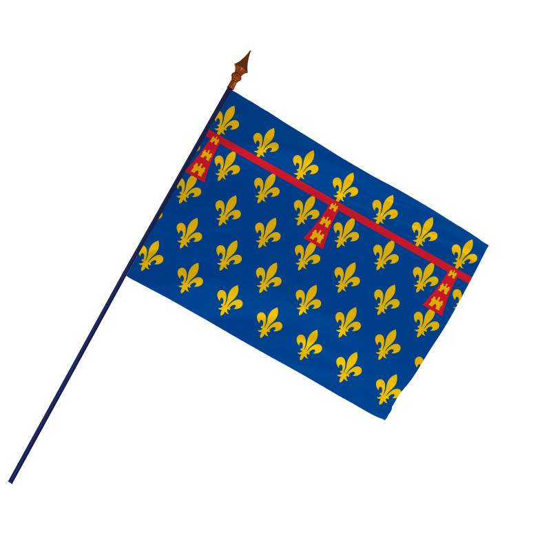 Drapeau Province Artois avec hampe et ourlets côtés | MACAP