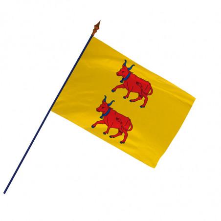 Drapeau Province Béarn avec hampe et ourlets côtés | MACAP