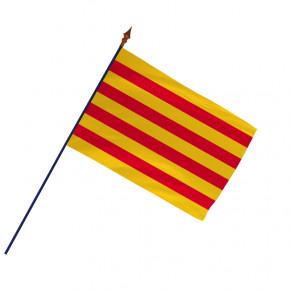 Drapeau Province Catalan avec hampe et ourlets côtés | MACAP