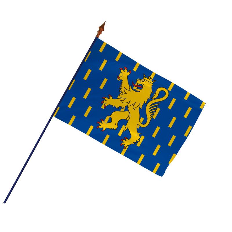 Drapeau Province Franche-Comté  avec hampe et ourlets   MACAP