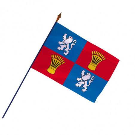 Drapeau Province Gascogne  avec hampe et ourlets   MACAP