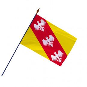 Drapeau Province Lorraine avec hampe et ourlets | MACAP