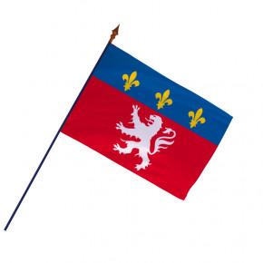 Drapeau Province Lyonnais avec hampe et ourlets | MACAP